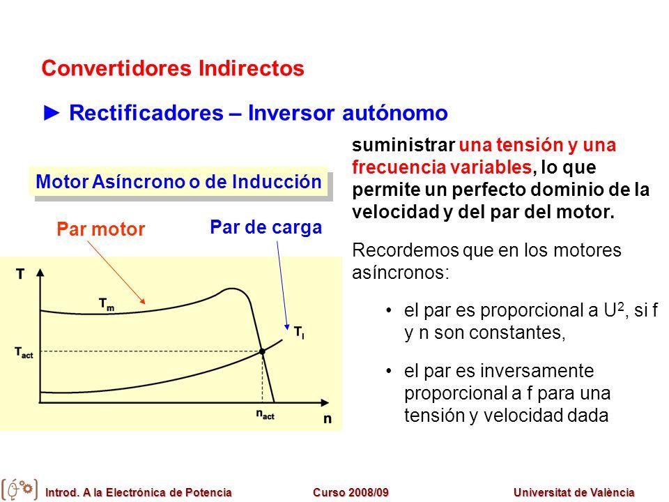 Convertidores Indirectos ► Rectificadores – Inversor autónomo