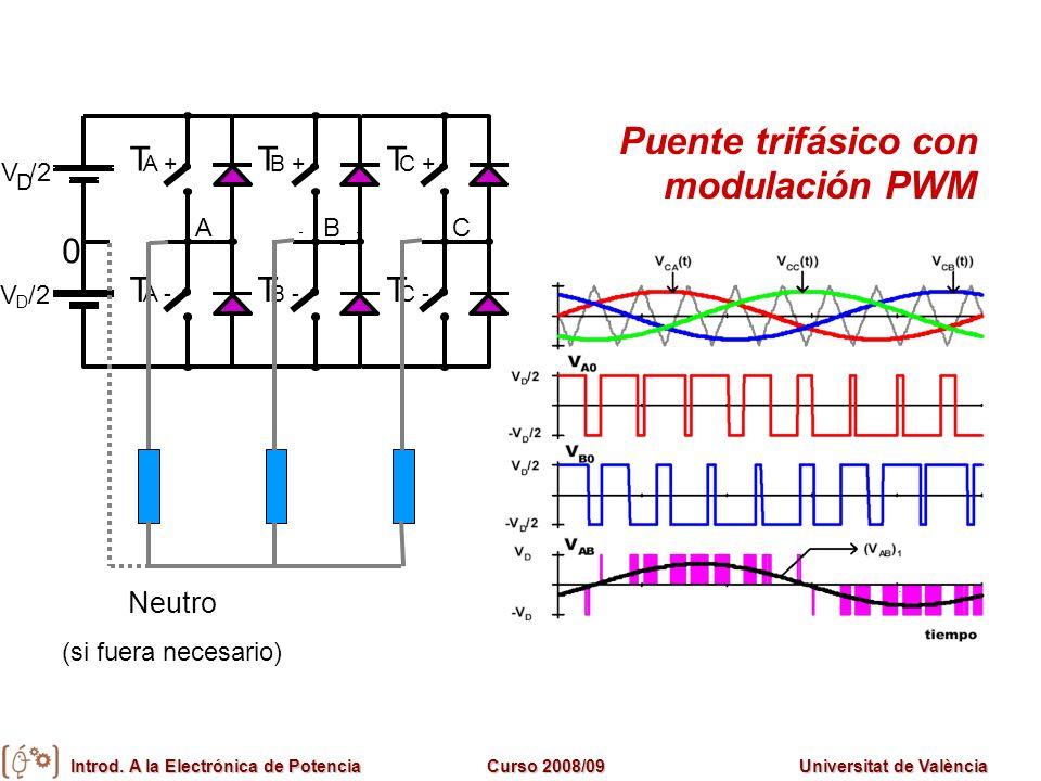 Puente trifásico con modulación PWM