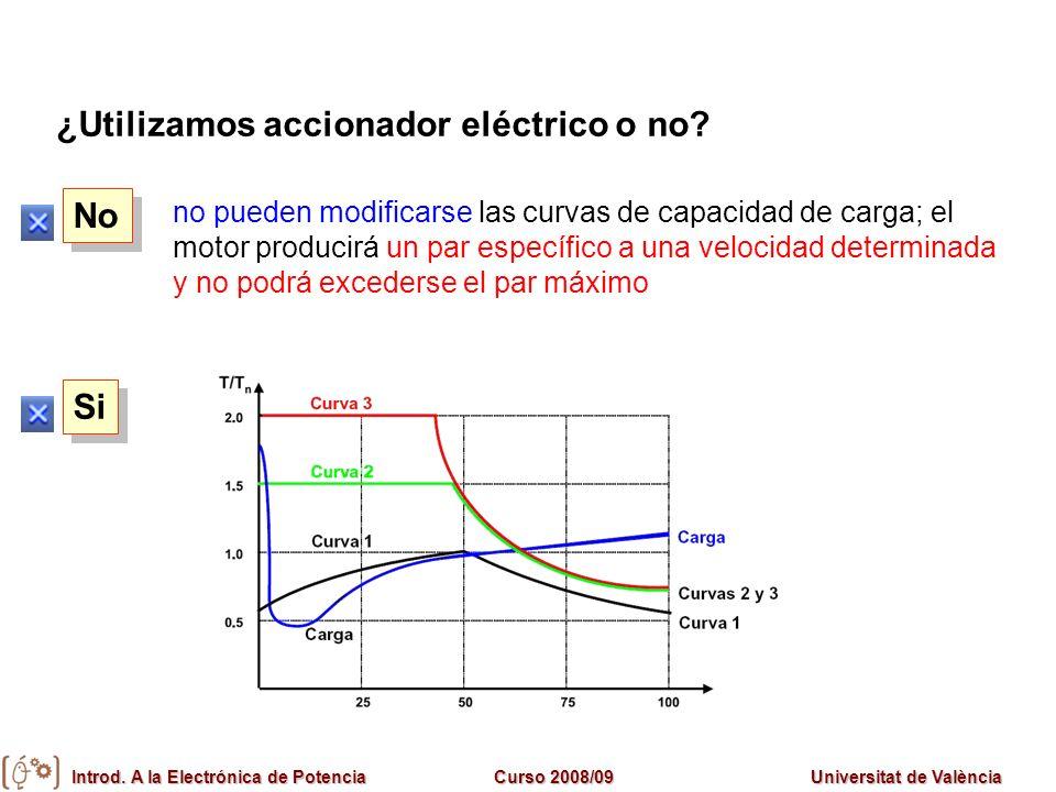 ¿Utilizamos accionador eléctrico o no