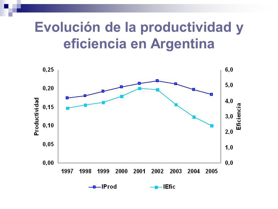 Evolución de la productividad y eficiencia en Argentina
