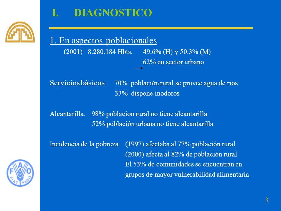 DIAGNOSTICO 1. En aspectos poblacionales.
