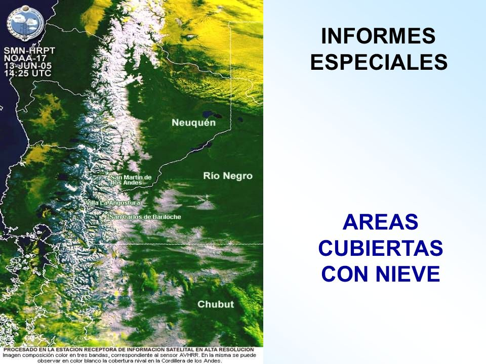 AREAS CUBIERTAS CON NIEVE