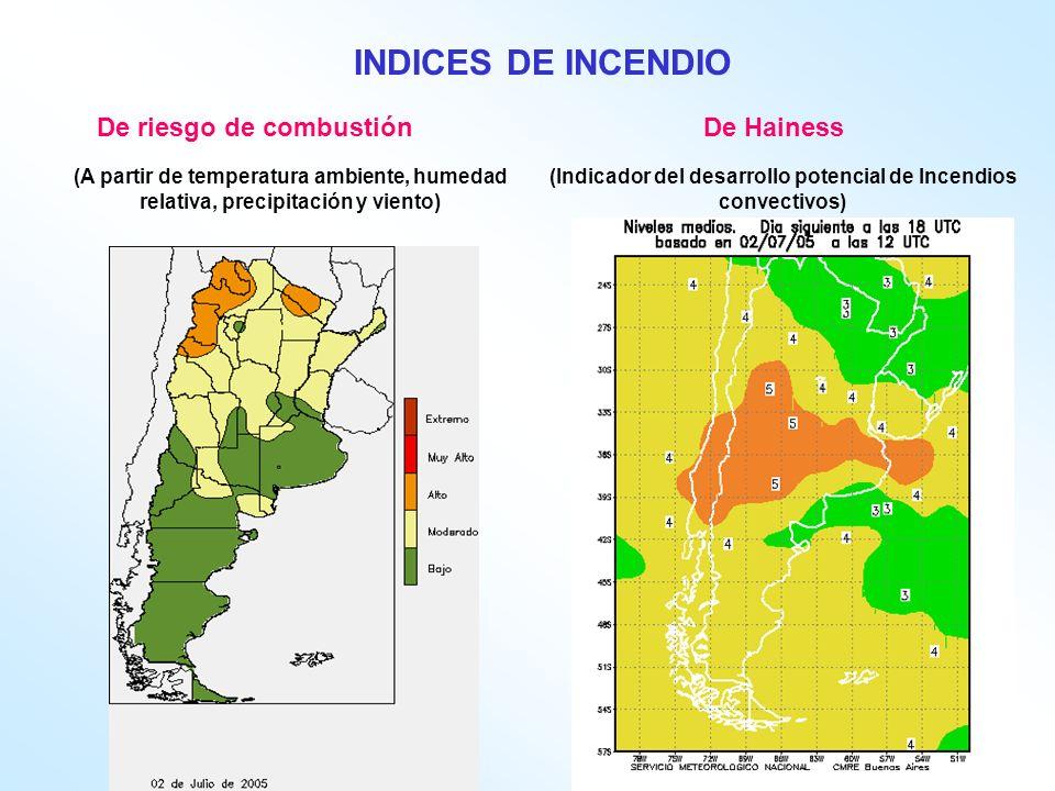 INDICES DE INCENDIO De riesgo de combustión De Hainess