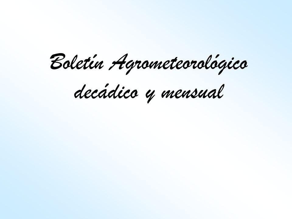 Boletín Agrometeorológico