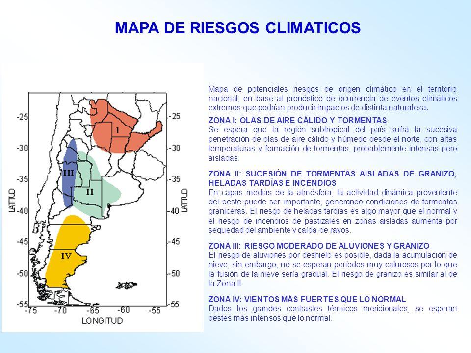 MAPA DE RIESGOS CLIMATICOS