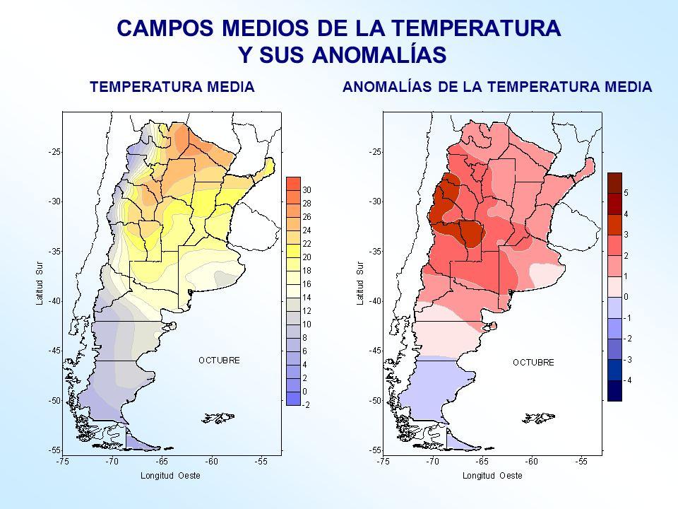 CAMPOS MEDIOS DE LA TEMPERATURA Y SUS ANOMALÍAS
