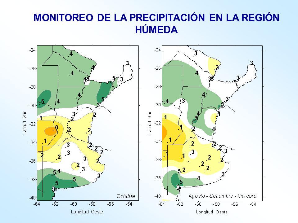 MONITOREO DE LA PRECIPITACIÓN EN LA REGIÓN HÚMEDA