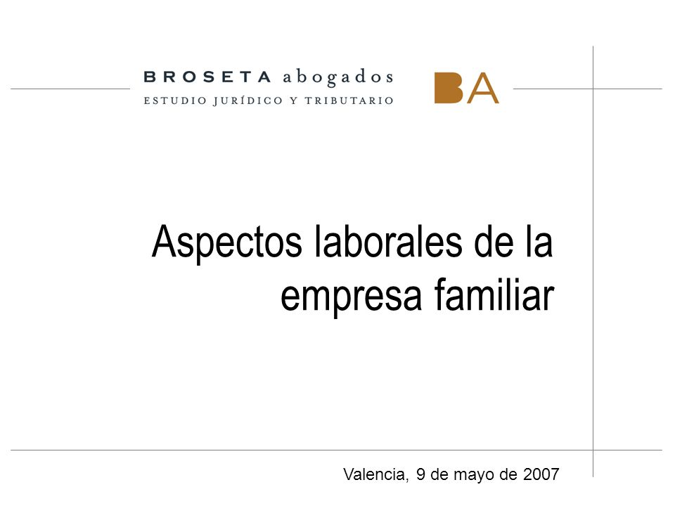 Aspectos laborales de la empresa familiar