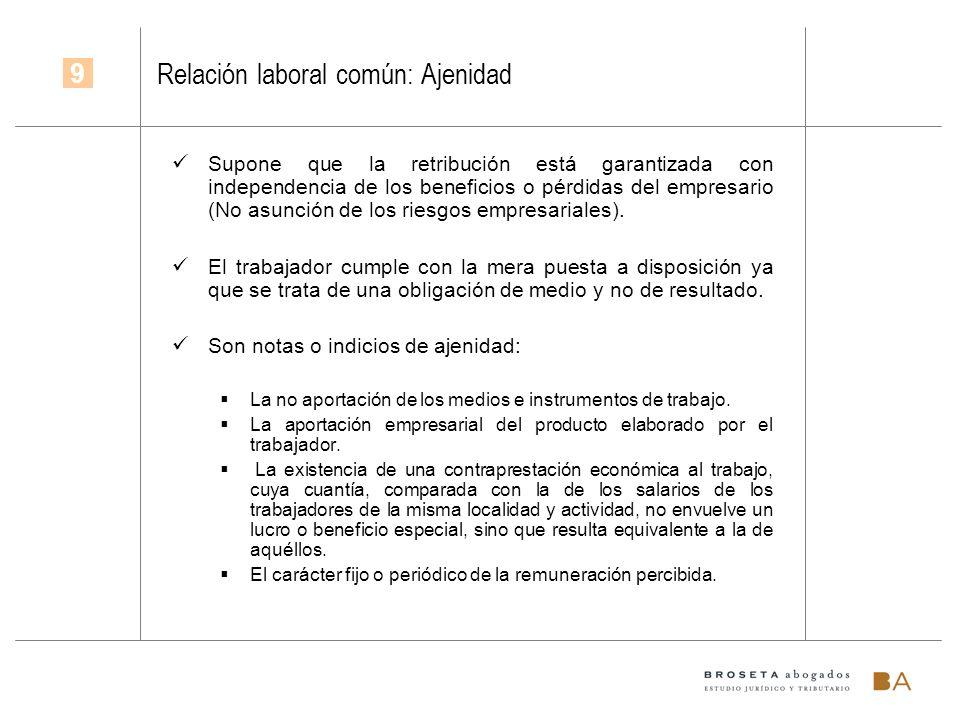 Relación laboral común: Ajenidad