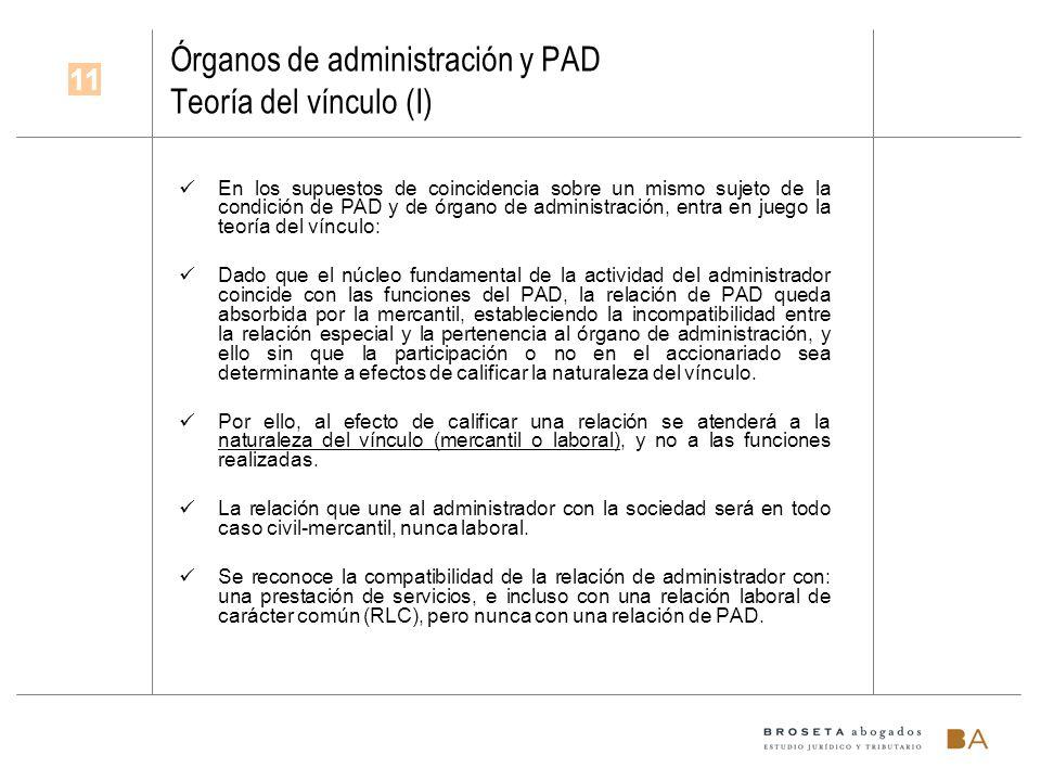 Órganos de administración y PAD Teoría del vínculo (I)