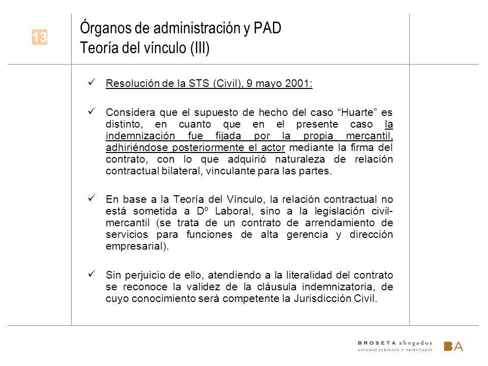 Órganos de administración y PAD Teoría del vínculo (III)
