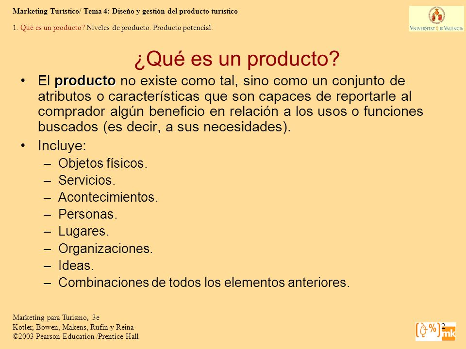 1. Qué es un producto Niveles de producto. Producto potencial.