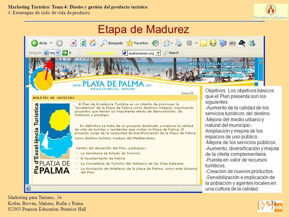 Etapa de Madurez 4. Estrategias de ciclo de vida de producto