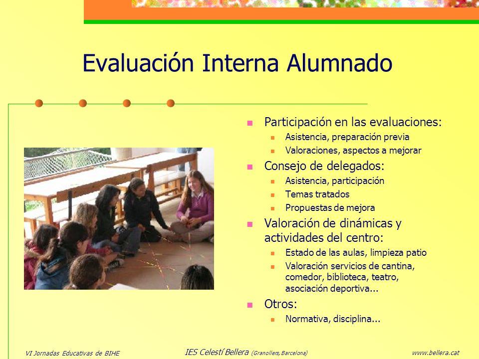 Evaluación Interna Alumnado