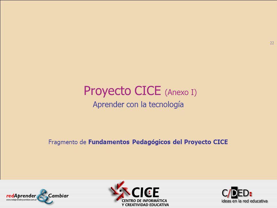 Proyecto CICE (Anexo I)