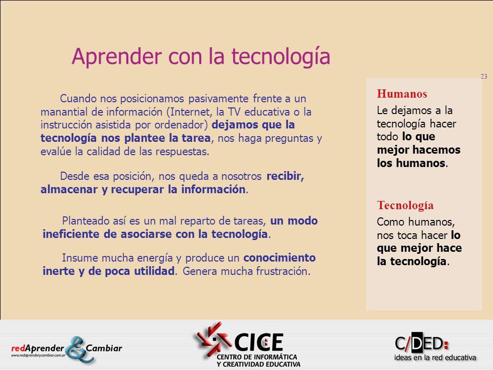 Aprender con la tecnología