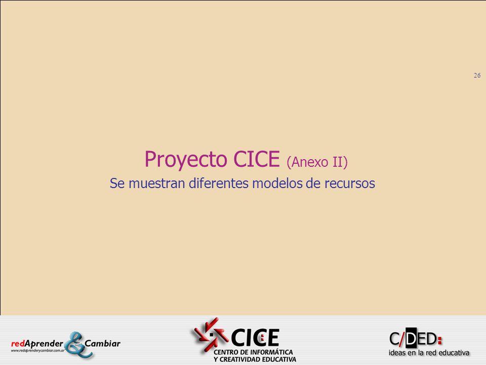 Proyecto CICE (Anexo II)