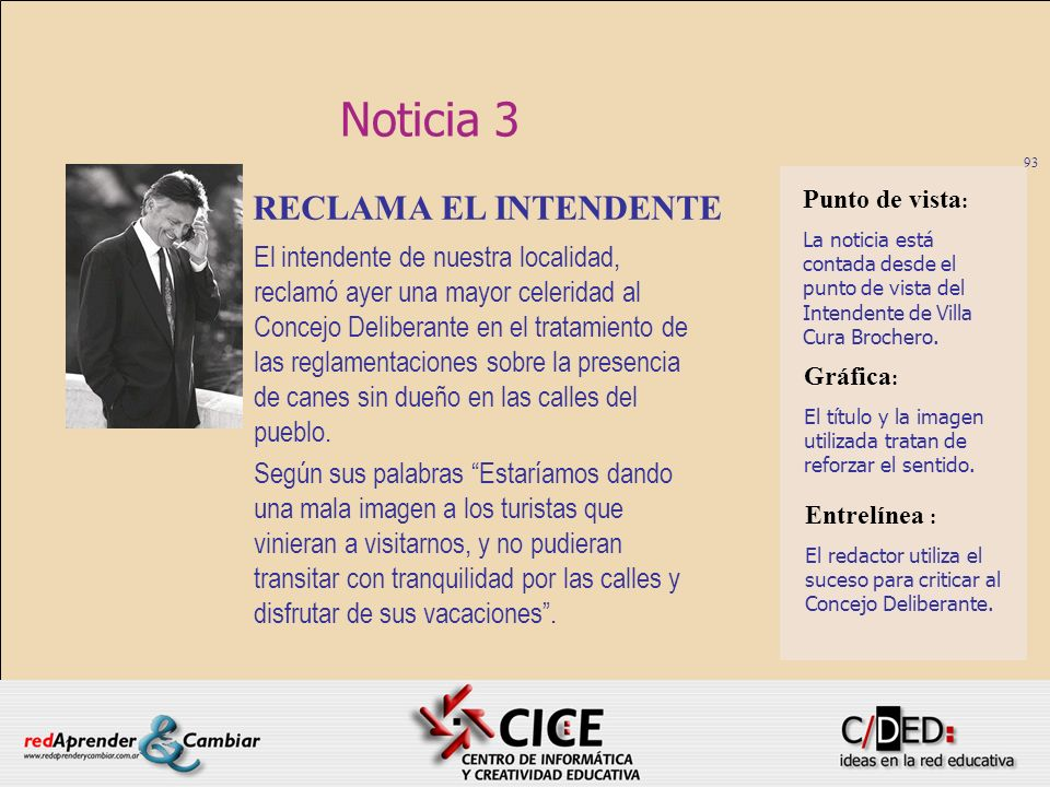 Noticia 3 RECLAMA EL INTENDENTE