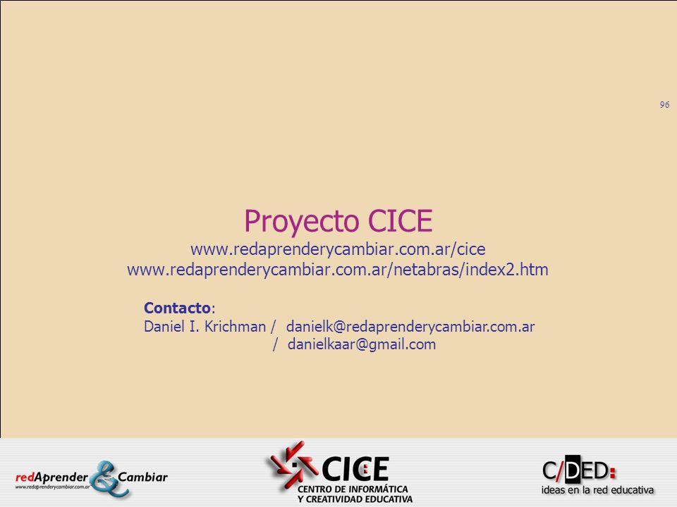 Proyecto CICE www.redaprenderycambiar.com.ar/cice