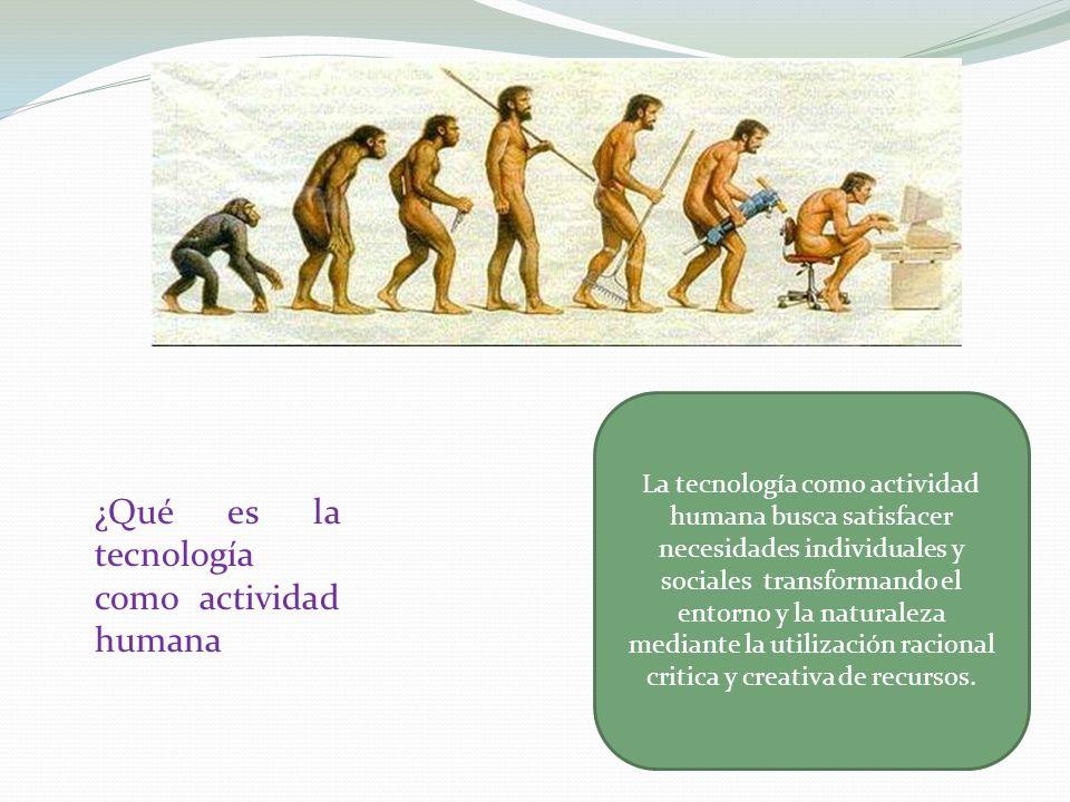 ¿Qué es la tecnología como actividad humana