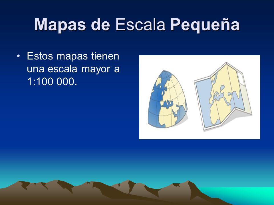 Mapas de Escala Pequeña