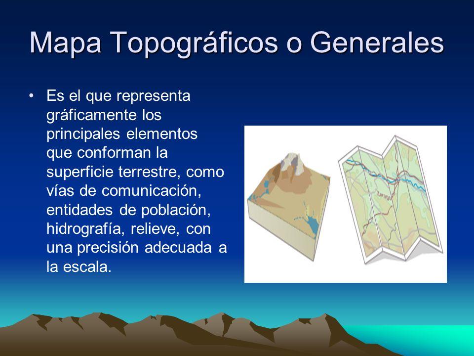 Mapa Topográficos o Generales