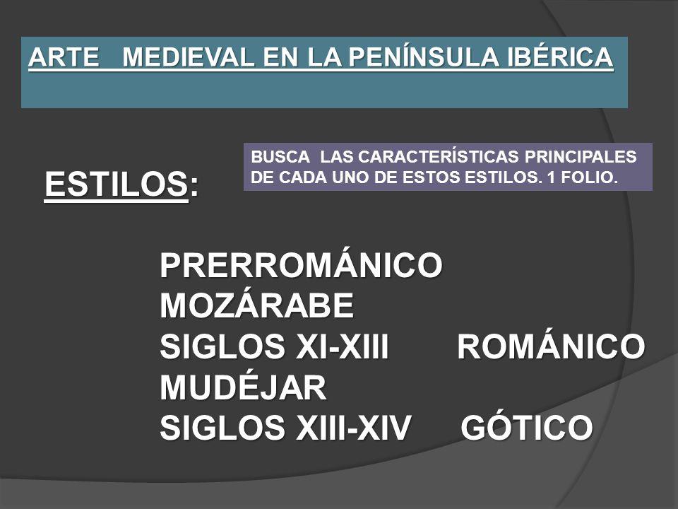SIGLOS XI-XIII ROMÁNICO MUDÉJAR SIGLOS XIII-XIV GÓTICO