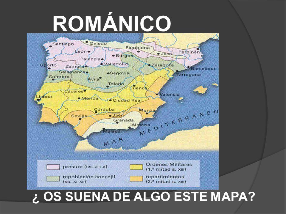 ROMÁNICO ¿ OS SUENA DE ALGO ESTE MAPA