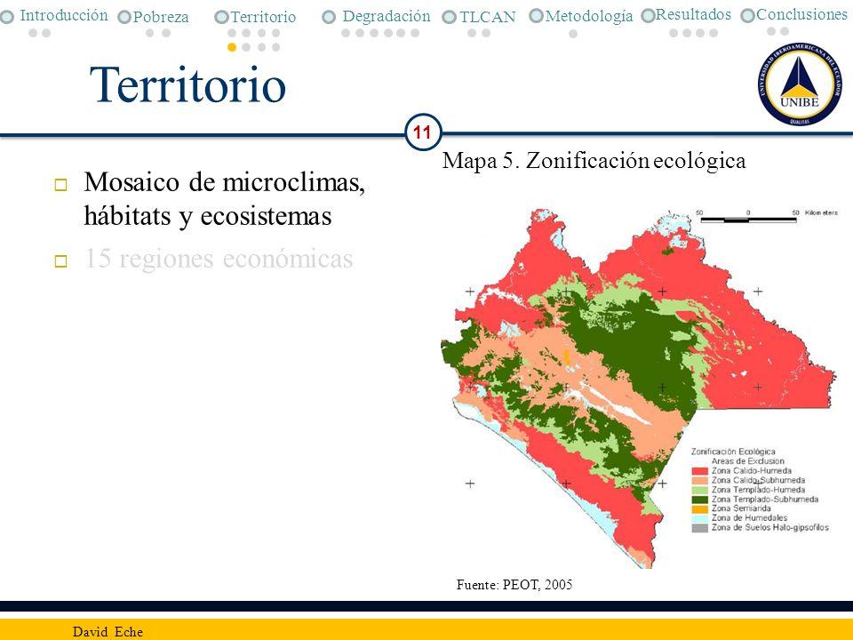 Territorio Mosaico de microclimas, hábitats y ecosistemas