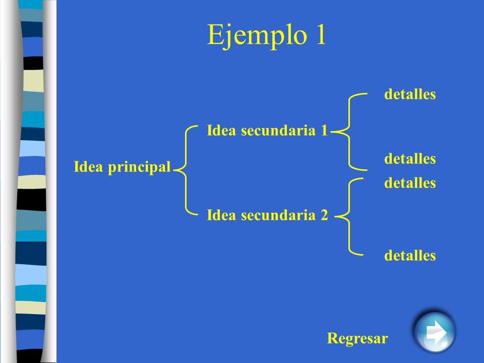Ejemplo 1 detalles Idea secundaria 1 detalles Idea principal detalles