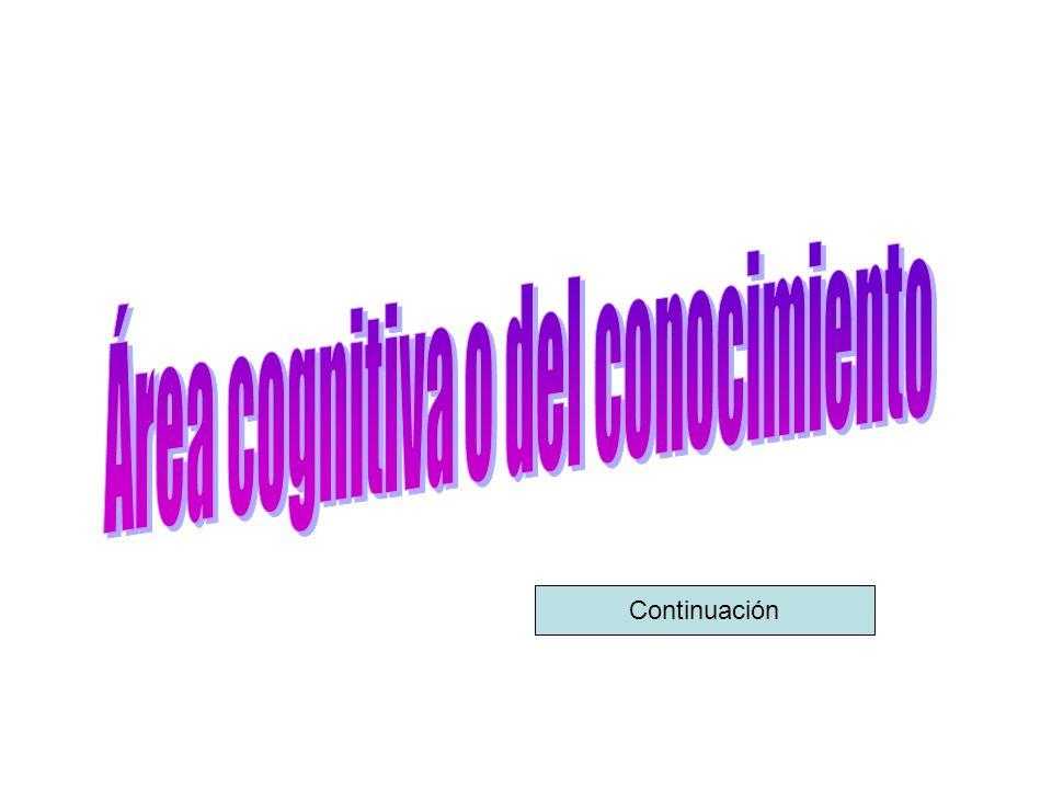 Área cognitiva o del conocimiento