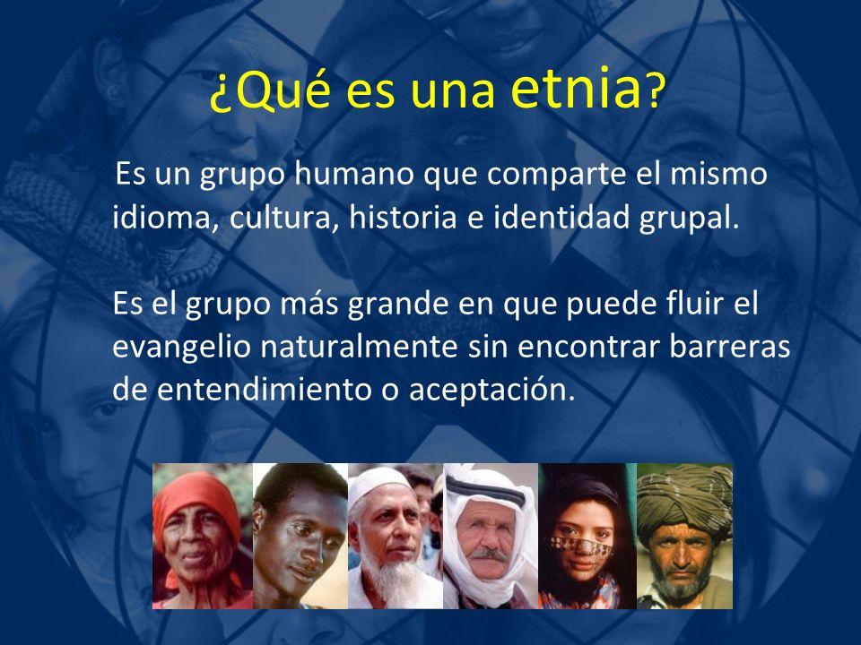 ¿Qué es una etnia Es un grupo humano que comparte el mismo idioma, cultura, historia e identidad grupal.