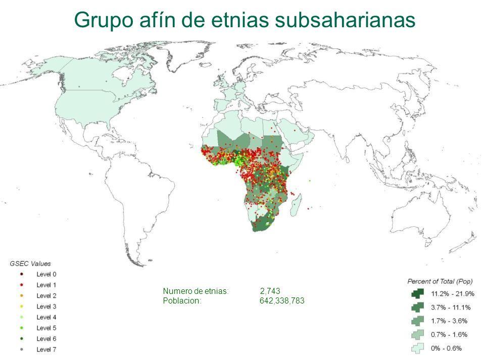 Grupo afín de etnias subsaharianas