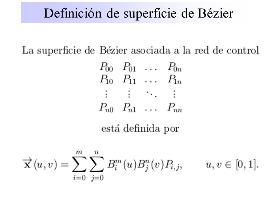 Definición de superficie de Bézier