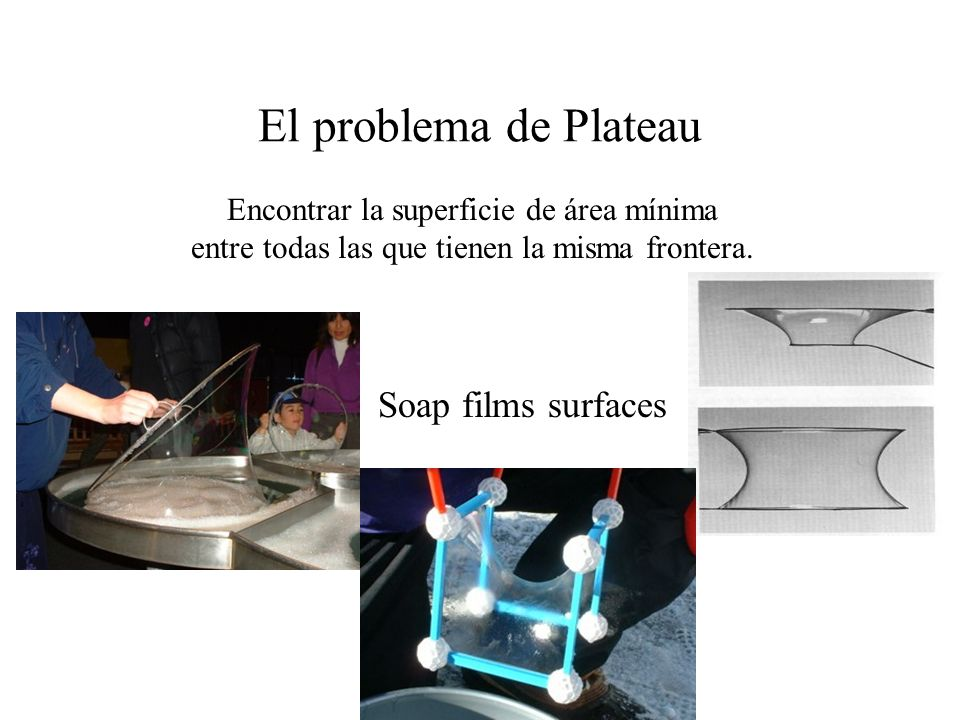 El problema de Plateau Soap films surfaces