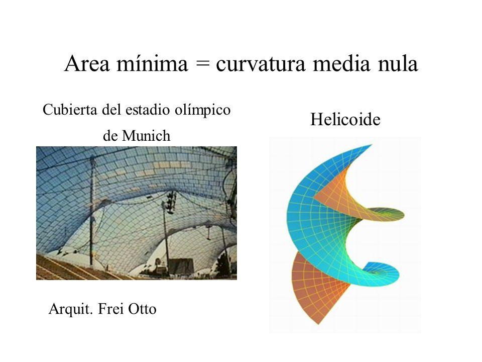 Area mínima = curvatura media nula