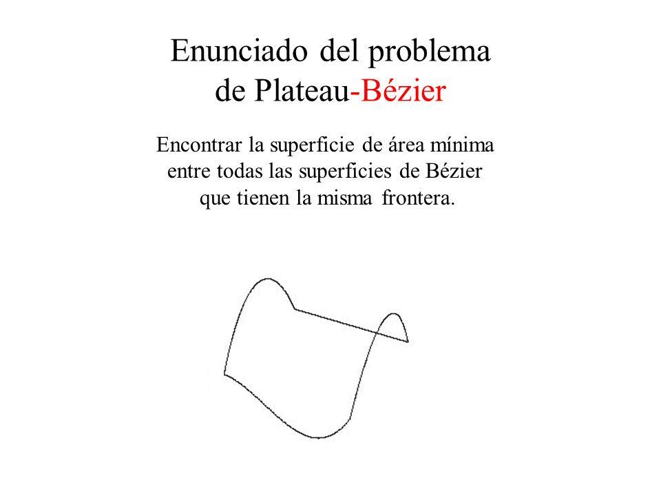 Enunciado del problema de Plateau-Bézier