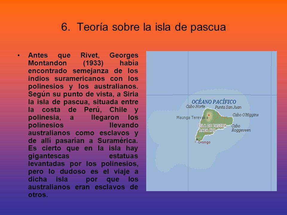 6. Teoría sobre la isla de pascua