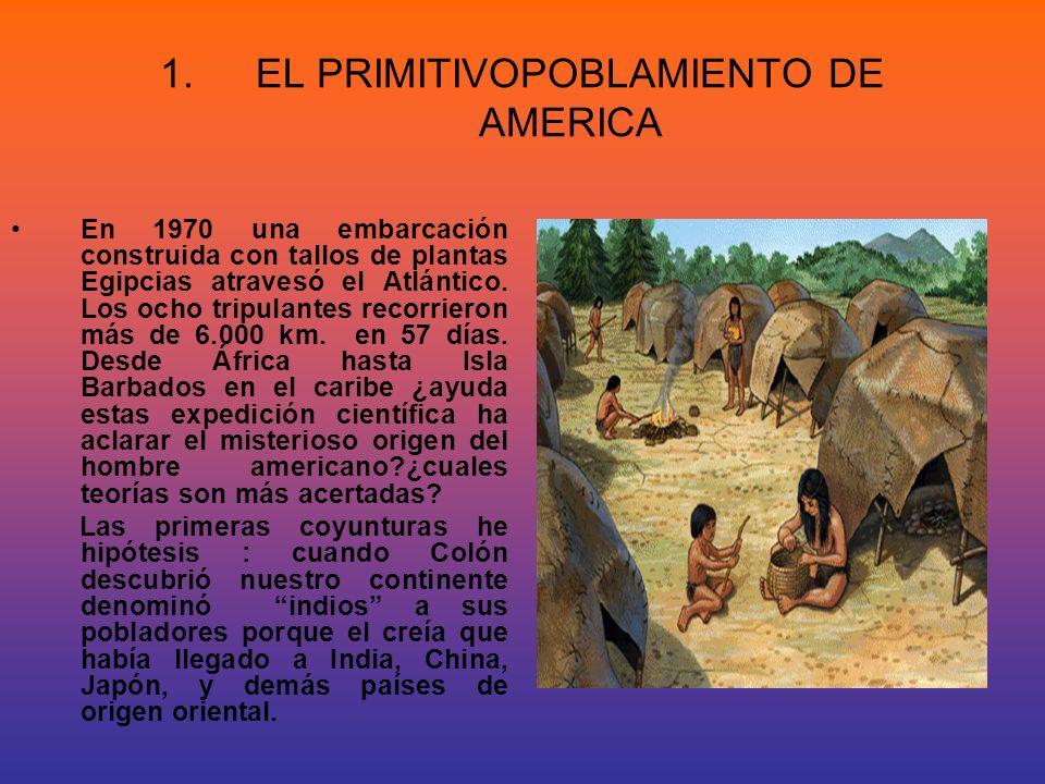 EL PRIMITIVOPOBLAMIENTO DE AMERICA