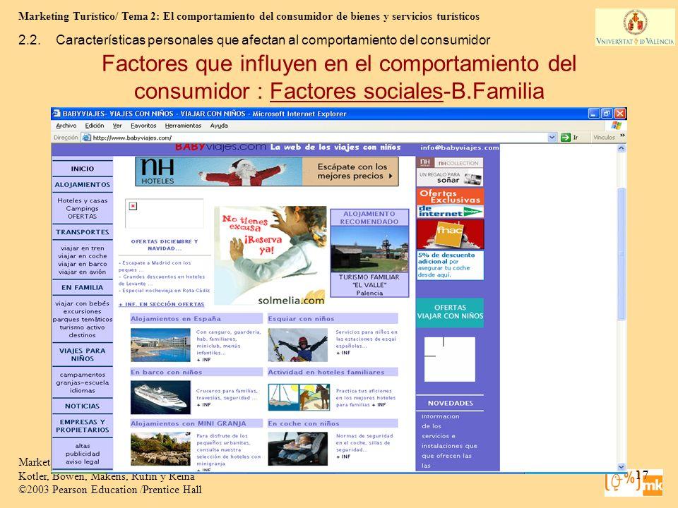 2.2. Características personales que afectan al comportamiento del consumidor