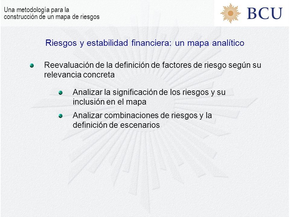 Riesgos y estabilidad financiera: un mapa analítico