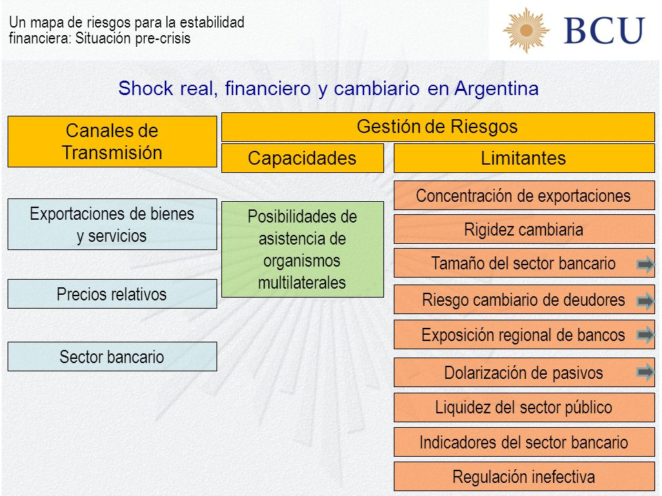 Shock real, financiero y cambiario en Argentina