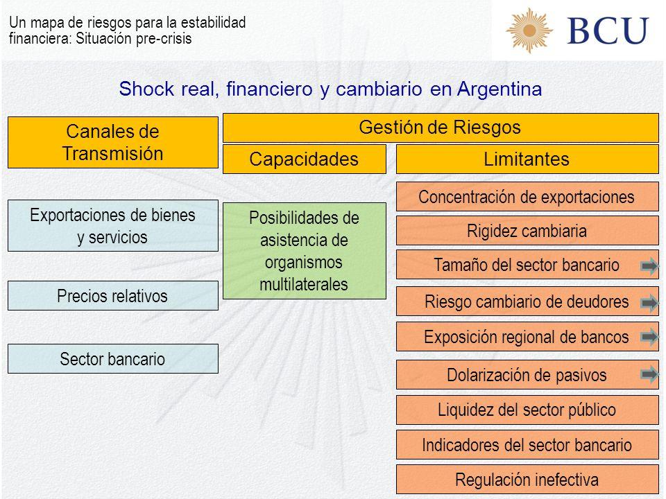 Shock real, financiero y cambiario en Argentina