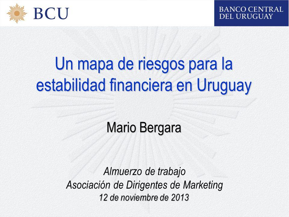 Un mapa de riesgos para la estabilidad financiera en Uruguay