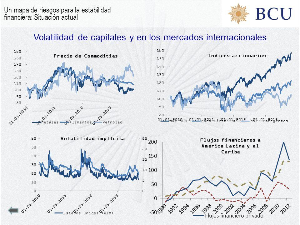 Volatilidad de capitales y en los mercados internacionales