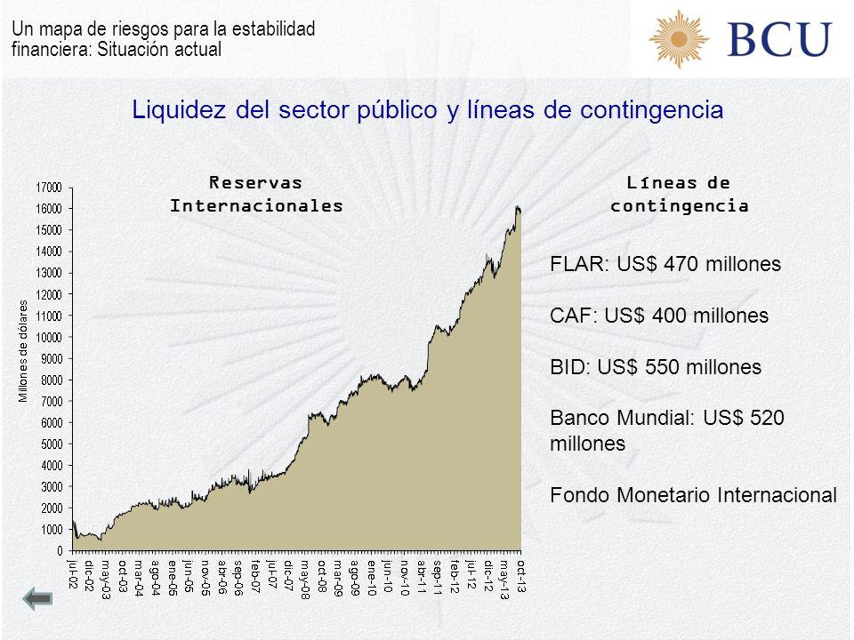 Liquidez del sector público y líneas de contingencia