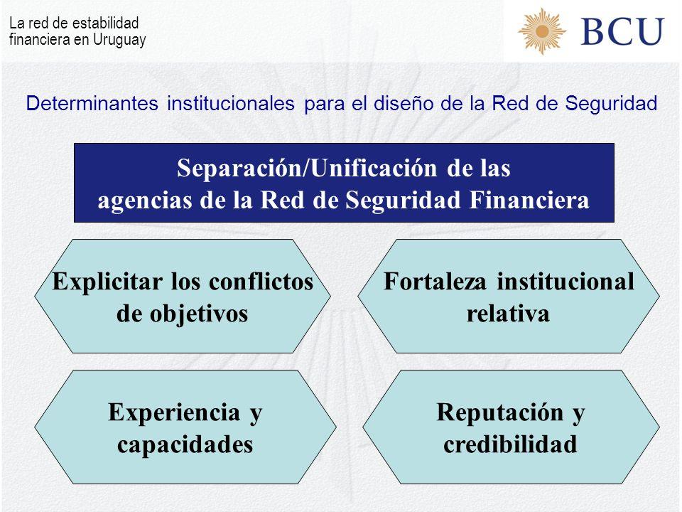 Determinantes institucionales para el diseño de la Red de Seguridad