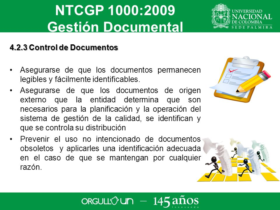 NTCGP 1000:2009 Gestión Documental