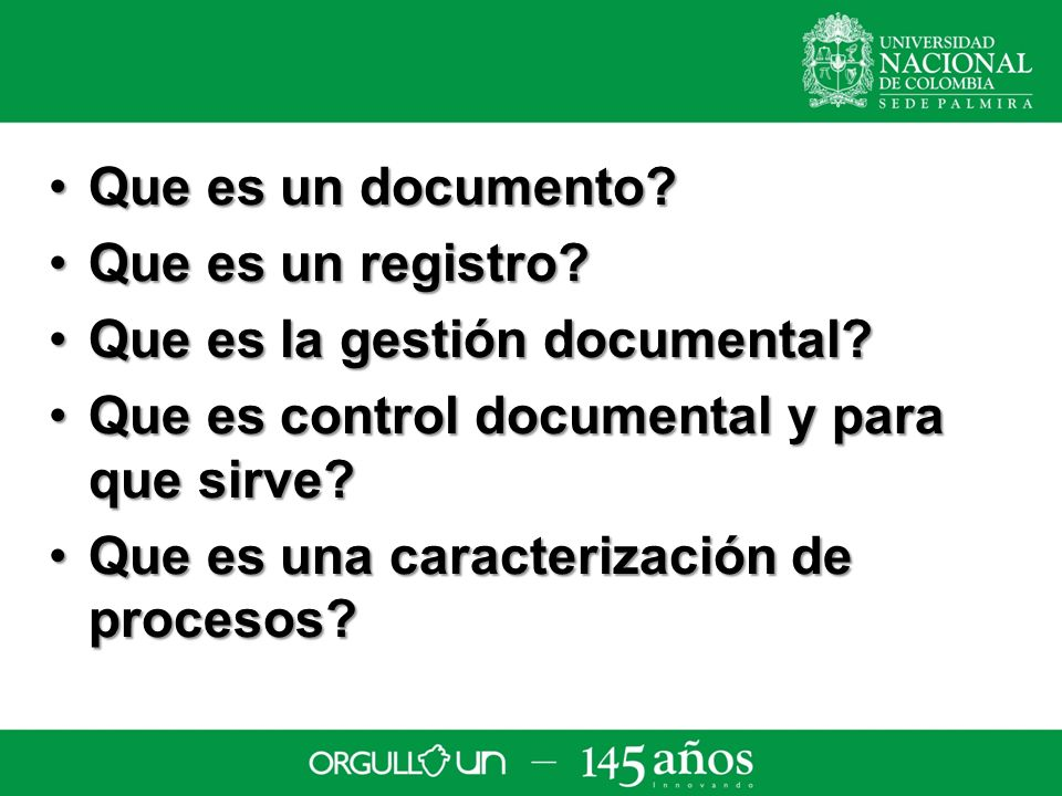 Que es un documento Que es un registro Que es la gestión documental Que es control documental y para que sirve