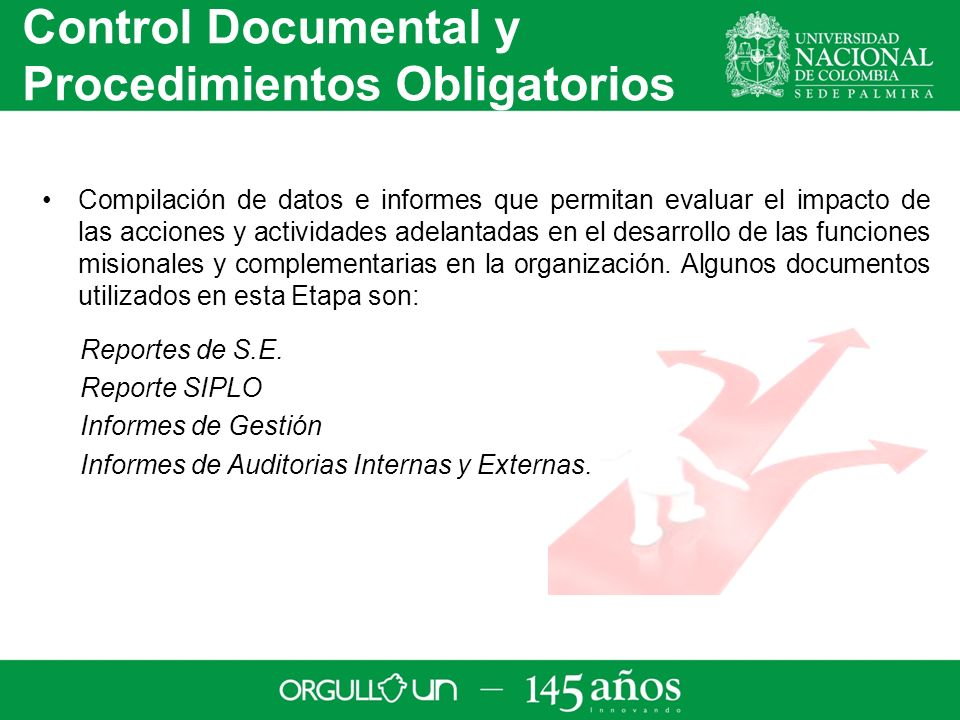 Control Documental y Procedimientos Obligatorios